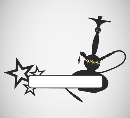 narghil�: narghil� progettazione per volantini e pubblicit� Vettoriali