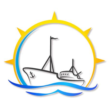 사업, 어선에 대한 디자인 일러스트