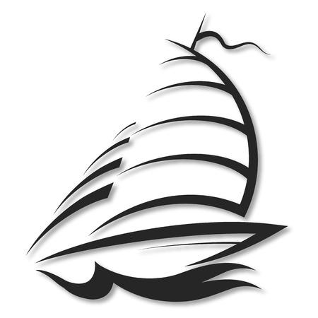 regatta: design sports yacht, the silhouette