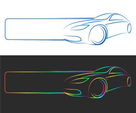 自動車ビジネスをデザインします。  イラスト・ベクター素材