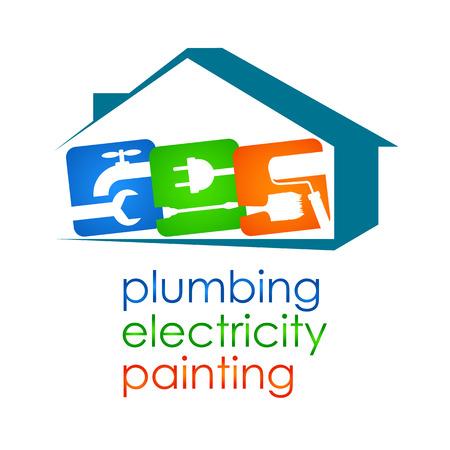 家の改修のためのサービスのベクトルのデザインします。