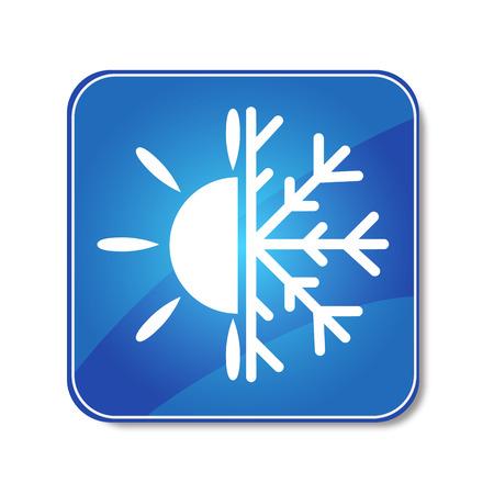 loodgieterswerk: pictogram airconditioner Voor de vector