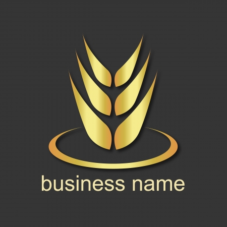 design emblem for wheat business Vector