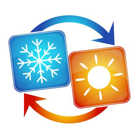 loodgieterswerk: airconditioning in het huis, de inrichting van de bedrijfsprocessen Stock Illustratie