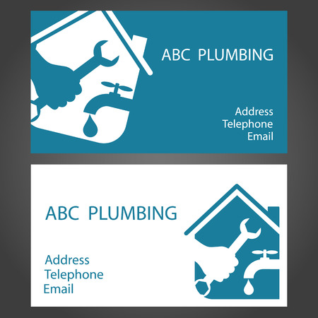design business cards for plumbing and working Vector