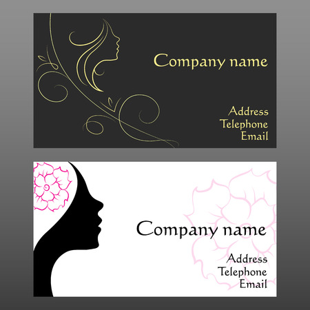 business card for hair and beauty salon Vector