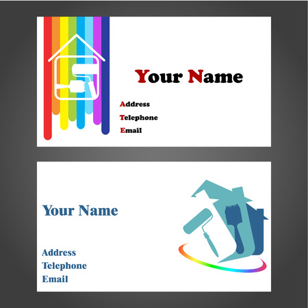 business card designs for painters and decorators Vector