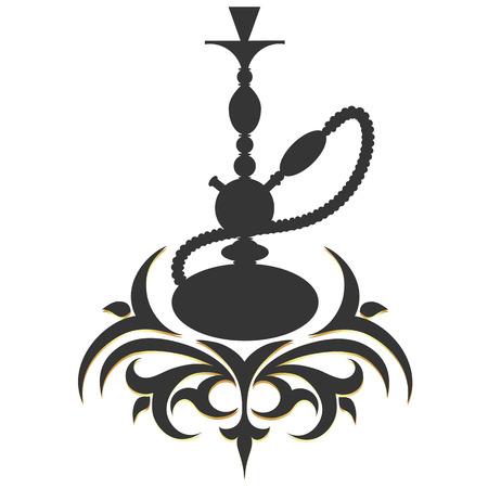 hookah silhouette pattern vector