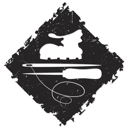 awl: design shoe repair for the vector