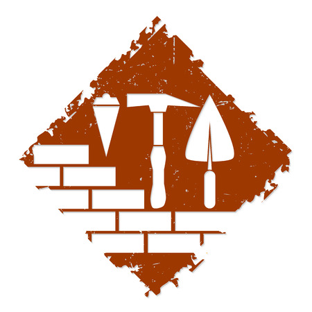 construction firm: symbol for the construction business, tools Illustration
