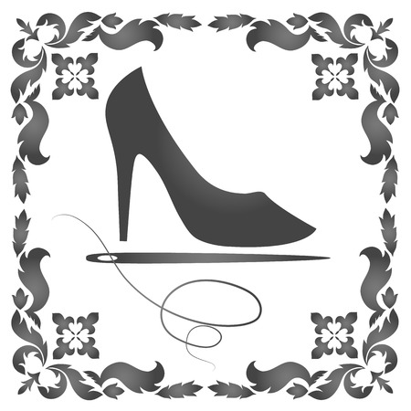 awl: design for repair of women s shoes Illustration