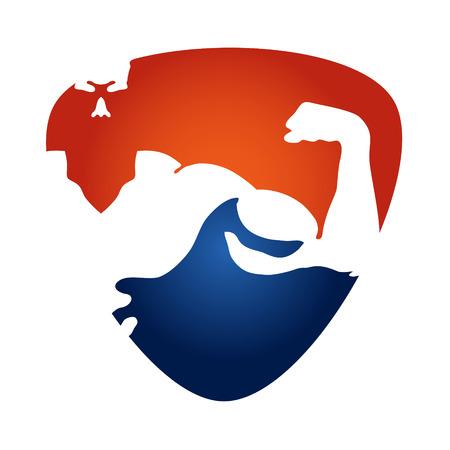 symbolen ontwerp voor de sportschool