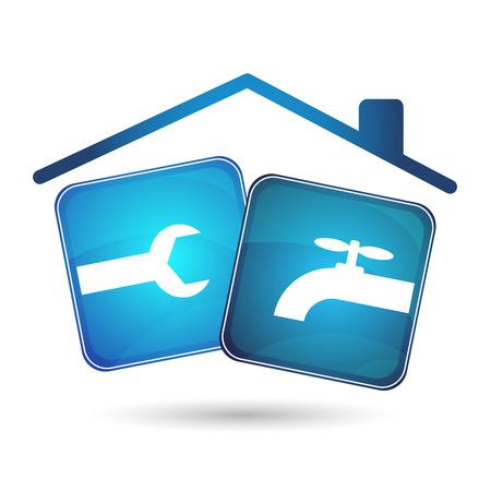 repair plumbing and plumbing design for business Vector