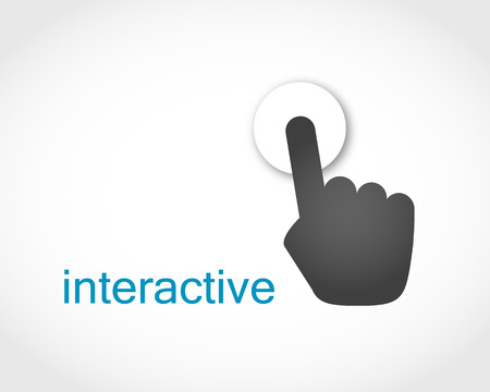 hand touch icon on the screen, vector Illustration