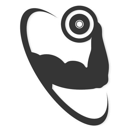 bodybuilder man: Symbol for gymnastics and gym, vector