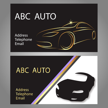 design business card for auto, vector