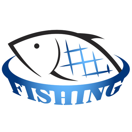 lure: Fishing for design vector, silhouette of fish