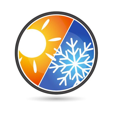 Ontwerp voor airconditioning bedrijf, vector