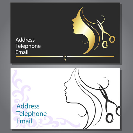 Design business card for hair and beauty salon Vector