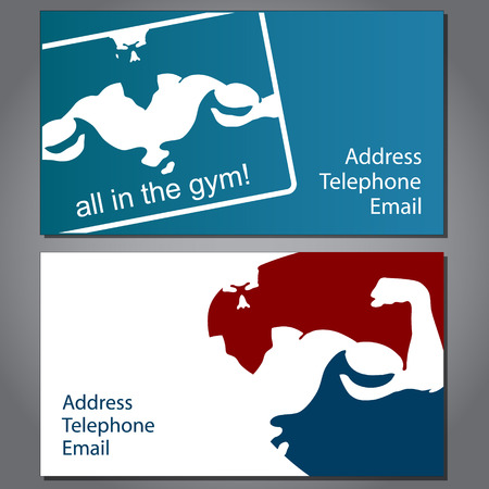 business card for gym and fitness, vector Vector