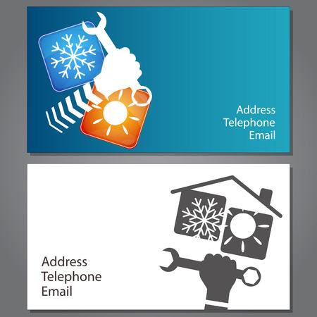 ビジネス カード、エアコンの修理のためベクトル