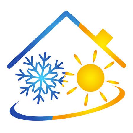 Klimatyzator wektor projektowania, usługi Ilustracje wektorowe