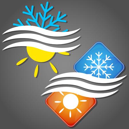 Ontwerp symbool voor airconditioning bedrijf