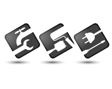 Icons for the construction business, the silhouette of the vector Vector