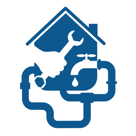 repair plumbing for business, home and pipes Vector