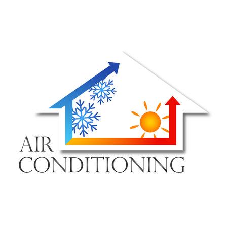 diseño para el hogar aire acondicionado, vector Ilustración de vector