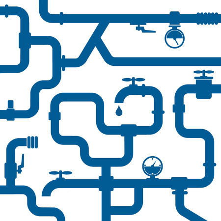 pipelines: background of plumbing and taps, repair