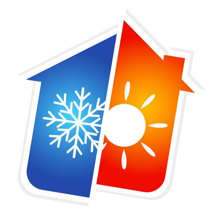 Design per l'aria condizionata a casa, vettore