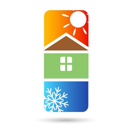 Casa de aire acondicionado para el Foto de archivo - 29112659