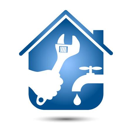 Design plumbing repair homes Vector