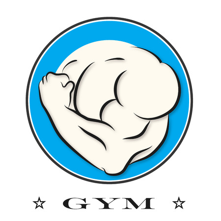 Design for gym and fitness vector Vector