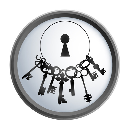 locks: Bunch of keys design for business, vector