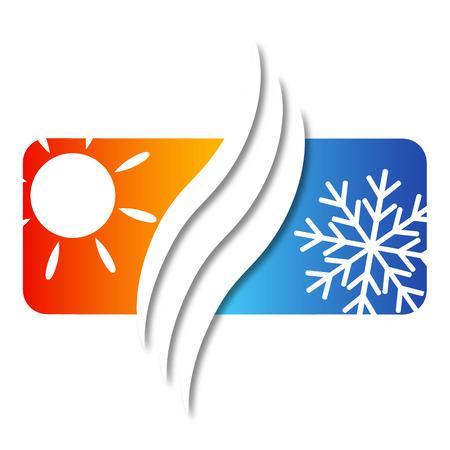 airconditioning voor een bedrijf aan huis, vector Stock Illustratie