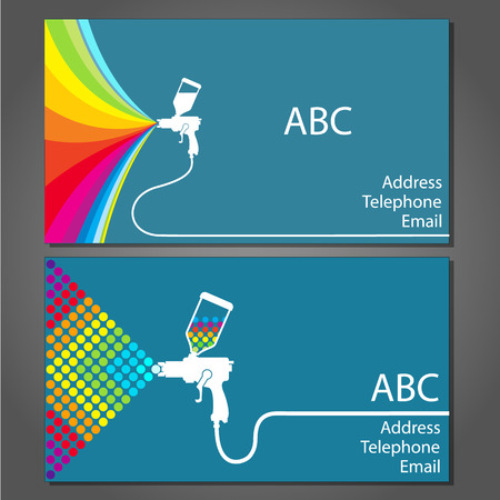 business card for house painter, a set of vector