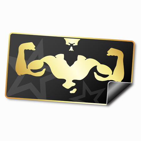 promotional sticker for the gym and fitness Vector