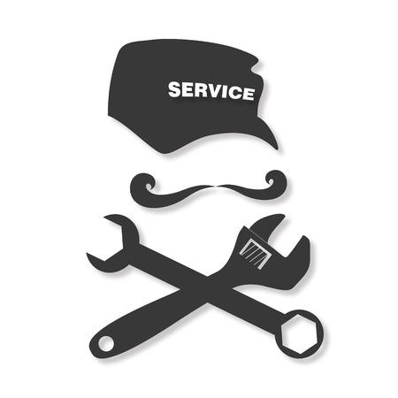 repair man: Service and repair, tool and cap master