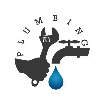 plumbing repair: Service and repair of plumbing and water supply systems Illustration