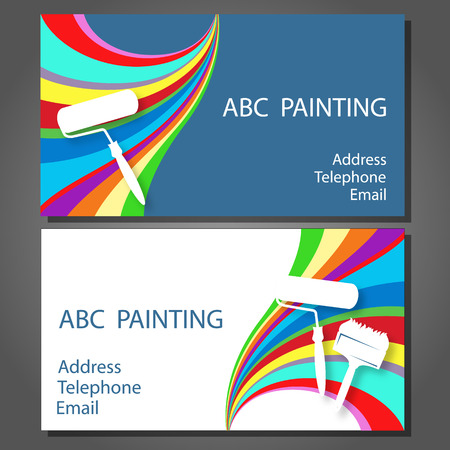 house painter: Business card for a painting business, vector
