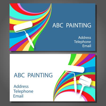Visitekaartje voor een schildersbedrijf, vector
