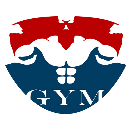badge logo: design for gym and fitness, vector