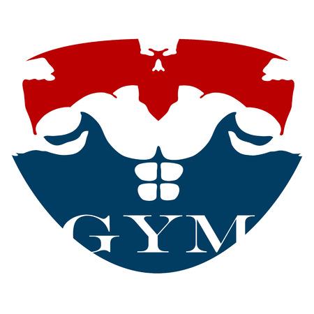 fitness hombres: diseño para gimnasia y fitness, vector