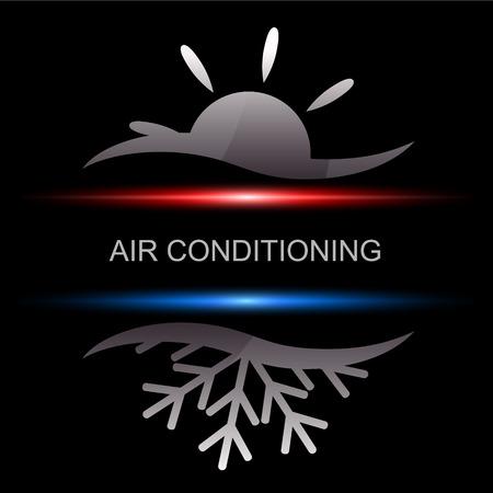 Airconditioning ontwerp voor het bedrijfsleven, vector Stock Illustratie