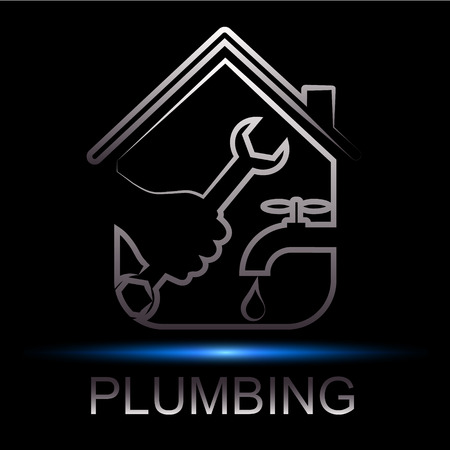 repair plumbing design for business  イラスト・ベクター素材