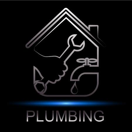 repair plumbing design for business Vectores