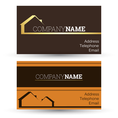 realty: business card real estate sales, vector Illustration