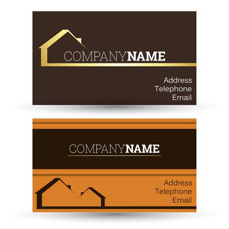 business card real estate sales, vector Illustration